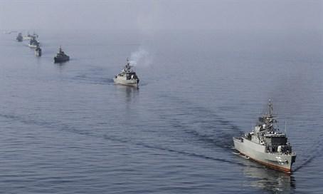 Iranian Naval Ships. Credit: Reuters