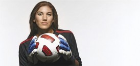 There are few soccer players better suited to play goalie than the perfectly named Hope Solo. A self-described loner, she is the best player on the U.S. women's soccer team, and its most outspoken. (Simon Bruty / Sports Illustrated / Getty Images)